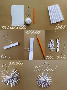 giochi di carta: Paper snowflakes diy Place Cards, Place Card Holders, Christmas Christmas