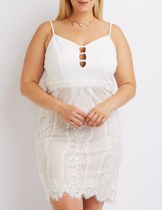 plus size two-tone bustier bodycon dress | charlotte russe