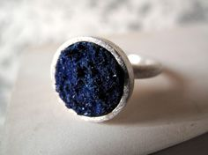 Azurite Ring ... looks like powder, absolutely gorgeous, dream wedding ring