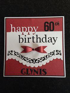 Female birthday card using spellbinders border die and grand happy birthday die