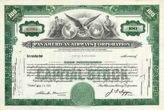 Pan American Airways Corp. 100 shares à 2,50 $ 13.3.1945.