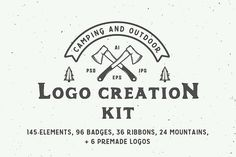 Camping outdoor logo creation kit  by AkimD on @creativemarket