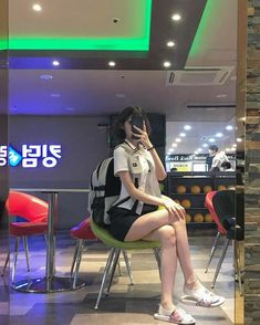 Ulzzang, Thing 1, Great Legs, After School, School Uniform, Teen, Student, Asian, Lady