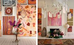 living with Indigenous art in an amazing Sydney apartment with white floors