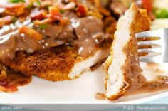 Secret Jagerschnitzel - German Hunter Schnitzel~ ~wonderful! Very authentic! The only thing I did different was to add another tbls of oil to pot before adding each schnitzel. ~