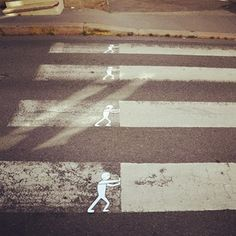 Notice who the viewer is in street art--here it is clearly for those on foot. Helps create vibrant spaces.