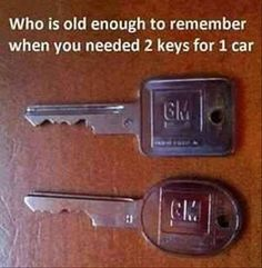 OMG...me, unfortunately...one for the door and one for the ignition...!!!