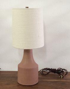 Image of Small Blush Stoneware Accent Lamp Lamp, Pottery, Stoneware, Home Decor, Accent Lamp, Light, Small