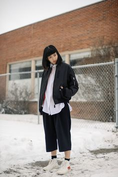 Alyssa Lau from the Ordinary People blog wearing G.V.G.V., vintage Calvin Klein…