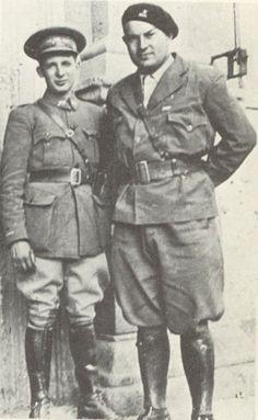 Spain - 1936-39. - GC - La XIVe Brigade Internationale - Marcel Sagnier, commandant la XIVe Brigade (à droite) et Boris Guimpel, chef de bataillon
