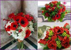 Svatební kytice máků - fotografie, možnosti pro kombinování s jinými barvami