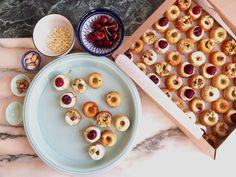 Cherry & pistachio mini cakes