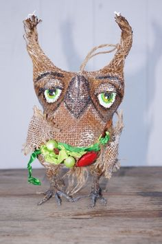 Primitive Christmas Owl Doll that smells like cinnamon and coffee ! #NaivePrimitive