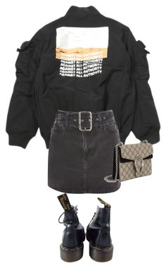 """""""Untitled #1323"""" by abbygbrewer on Polyvore featuring Topshop, Dr. Martens and Gucci"""