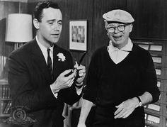 """Jack Lemmon y Billy Wilder durante el rodaje de """"El Apartamento"""" (The Apartment), 1960"""