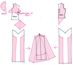 1930s Dress Pattern Sketch
