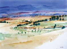 Untitled (watercolor on paper) by Ian Potts Watercolor Landscape, Abstract Watercolor, Abstract Landscape, Landscape Paintings, Watercolor Paintings, Watercolours, Landscapes, Traditional Paintings, Contemporary Paintings
