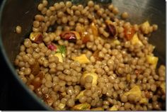 Sweet and spicy isreali couscous