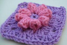 Popcorn Flower Granny Square Crochet Tutorial ❥Teresa Restegui http://www.pinterest.com/teretegui/❥