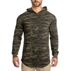 5ca7aeadc56 New Men s Camouflage Hoodies leisure Bodybuilding Sweatshirts pullover  fitness jacket