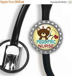 ON SALE  Pediatric RN Yellow Stethoscope Id by craftyaddictions