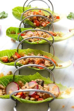 Looking for a high-protein, low-carb dinner? Make these Thai Chicken Lettuce Wraps in under 30-minutes!