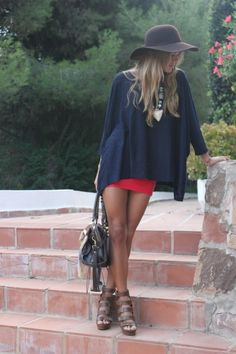 like the combo of the oversized shirt and skirt