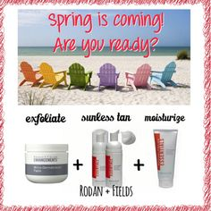 Only weeks until Spring! Are you ready? With these 3 Rodan and Fields products you can be ready to glow! Meehans.myrandf.com