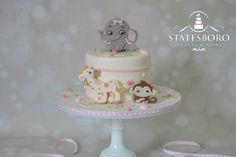 Baby Animals Shower Cake - Cake by Statesboro Sweets