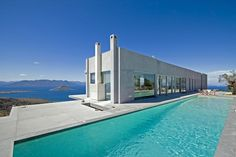 Gobsmackingly gorgeous dream of a house..   PRIVATE RESIDENCE, AIGINA Island, GREECE - A project by Konstantinos Kontos