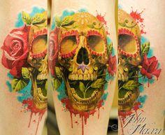 Tattoo Artist - John Maxx - skull tattoo | www.worldtattoogallery.com