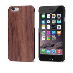 iATO iPhone 6 / 6s Real Natural Genuine Premium Handmade Wood Case [Non-slip] Exact Fit [Unique & Slim] Snap On (Walnut) iATO International