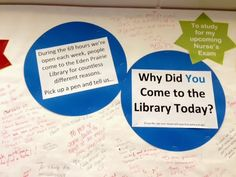 "Shelf Check: ""Why did you come to the library today?"" Participatory Display"