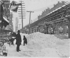 3rd Avenue at 67th Street, 1888. The year of the great blizzard. Ewing Galloway.