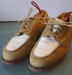 Ralph Lauren Polo  Suede & Leather Shoes Size 9 W by TheOldBagOnline on Etsy