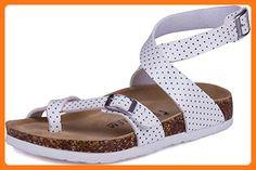 SATUKI Women's Sandals Footbed Casual Adjustable Straps Platform shoes (7, B)