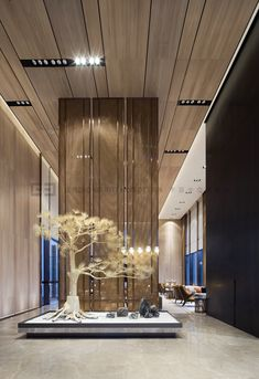 Fuzhou Finance Special Zone Sales Center by Li Yizhong on Behance Lobby Interior, Luxury Interior, Home Interior Design, Interior Architecture, Chinese Interior, Japanese Interior, Zen Interiors, Hotel Lobby Design, Sales Center
