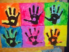 Pop Art Projects For Kids Children Andy Warhol 68 Ideas Andy Warhol, Kindergarten Art, Preschool Art, Art Pop, Square One Art, Arte Elemental, Ecole Art, Handprint Art, First Art