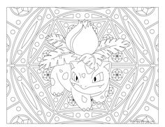 Free Printable Pokemon Coloring Page Ivysaur Visit Our For More