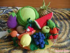 Фрукты и овощи крючком