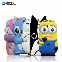 New 3D Cartoon Minions Stitch Sulley Case For Samsung Galaxy A3 2016 A310F A310 A3100 Hello Kitty  Cat Despicable Me Soft Cover