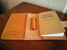Leather Field Notes cover  FREE Field Notes refill by DevonLeather
