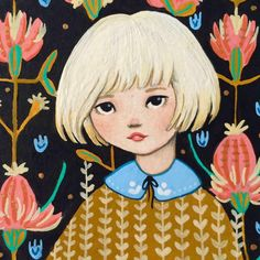 'Flora - Print & Pattern' by Emma Hampton Flora Print, Vintage Postcards, The Hamptons, Print Patterns, Illustration Art, Drawings, Stationeries, Drawstring Bags, Prints