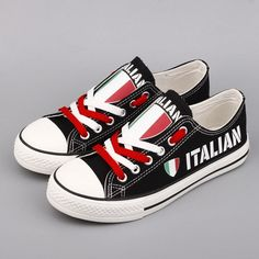 d453815bd3 Italian Pride Shoes Low Top Canvas Custom Printed Sneakers