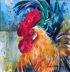 watercolor paintings of chickens | Fancy Bird
