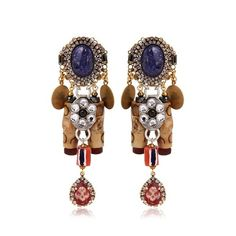 ERICKSON BEAMON Tribal Patchwork Earrings ❤ liked on Polyvore