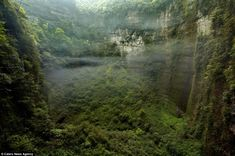 Er Wang Dong cave system in China - so large it has its own weather patterns