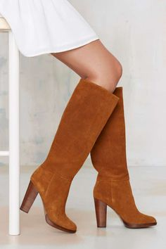 Report Lannister Knee-High Suede Boot//
