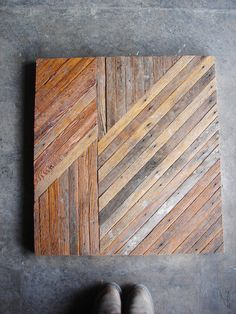 Table top made from reclaimed lath.
