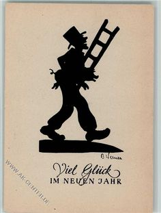 sign B. Werner - Schornsteinfeger, Neujahr
